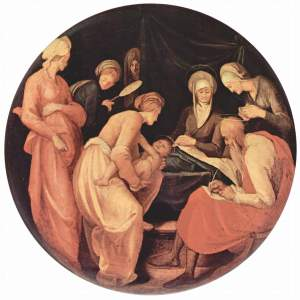 The Birth of John the Baptist by Jacopo Pontormo.  1526.  Public Domain.