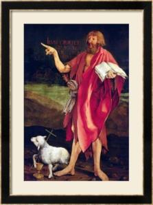 John the Baptist, detail from the Isenheim Altarpiece by Matthias Gruenewald, circa 1512.