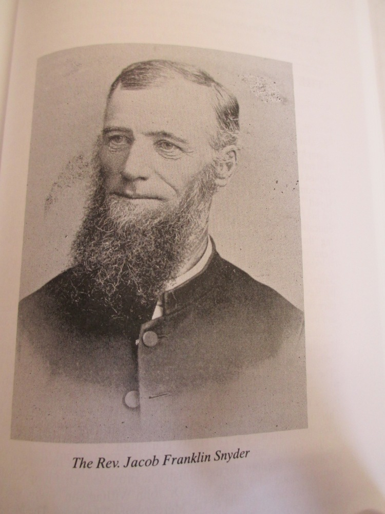 Sermon of June 30th--Pastor Jacob Snyder's biography (1834-1934)