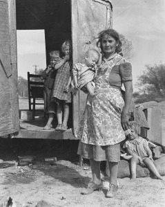 Lange, Dorothea, 1895-1965. Children in a Democracy -- On Arizona Highway 87, Maricopa County, from Art in the Christian Tradition, a project of the Vanderbilt Divinity Library, Nashville, TN. http://diglib.library.vanderbilt.edu/act-imagelink.pl?RC=55632