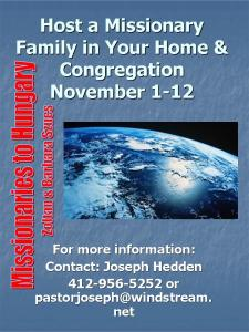 Host a Missionary Family in Your Home &