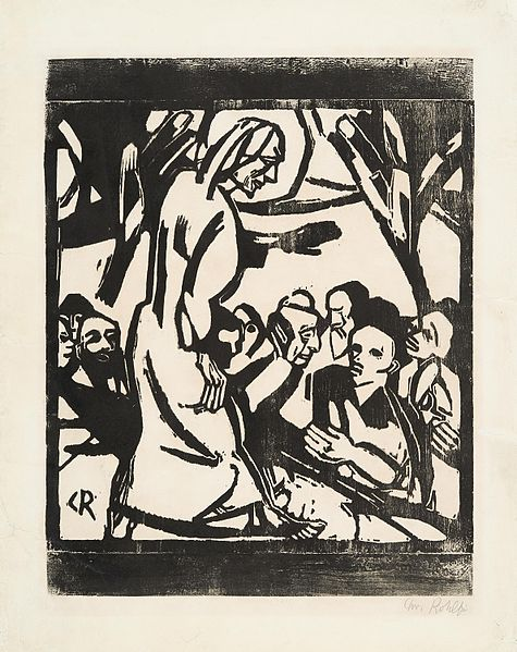 Christian Rohlfs, The Sermon on the Mount, 1916.  Public Domain.