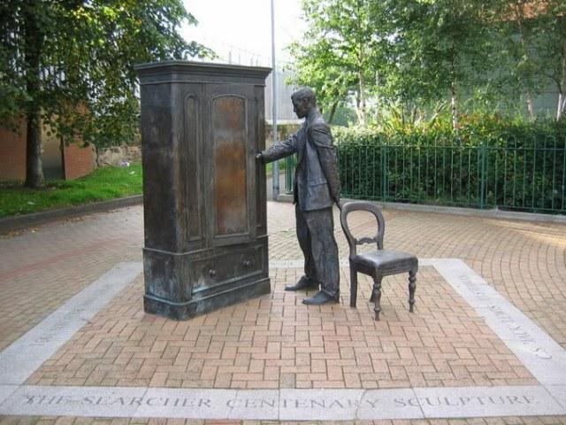C.S. Lewis statue in Belfast, U.K.