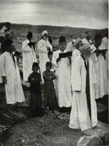 The Last Israelitish Blood Sacrifice by John D. Whiting, The National Geographic Magazine, Jan 1920.  Public Domain.