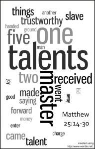 Talents Wordle by Will Hughes.  From Flickr.