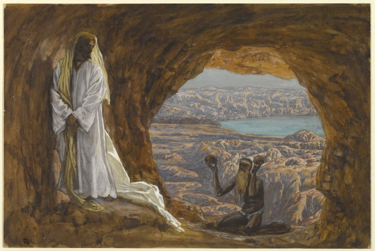 Tissot, Temptation of Jesus in the Wilderness, 19th Century.  Public Domain
