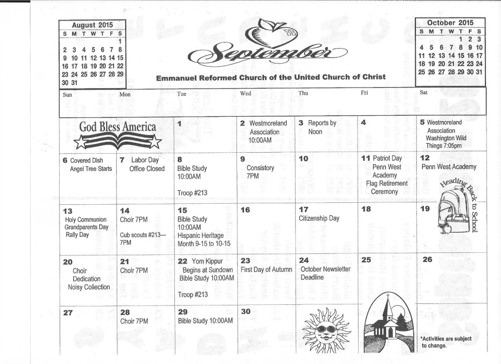 September 2015 Calendar (2)