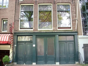Anne Frank's House, Amsterdam.  Used by permission of a Creative Commnons Licesne.  Original by liddybits on Flickr here.